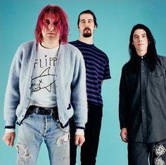 Nirvana in New York, NY, US. January 11th, 1992. Photograph by Michael Lavine