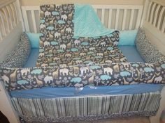 Custom Zoology in sea crib bedding set by Sewunexpectedthreads, $325.00