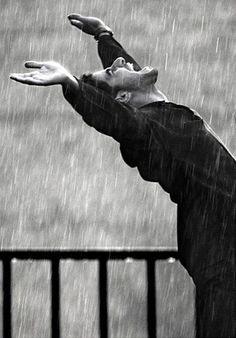 Glorious rain! Black and white photography