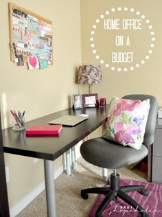 Baby Shopaholic: New Home Office on a Budget