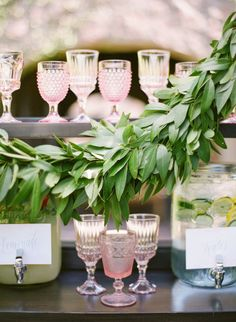 Blush glassware: http://www.stylemepretty.com/collection/2127/