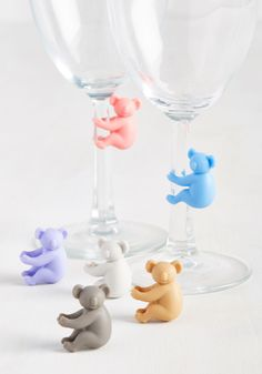 Highly Koala-fied Glass Marker Set. Convenient and totally cute? #multi #modcloth