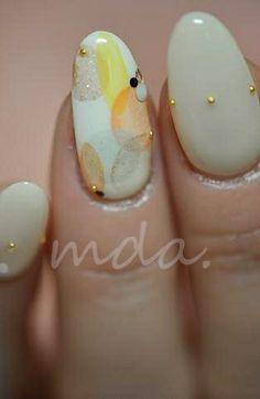 ★M.D.A NAIL Japanese Nail Art, Yellow Nails, Flower Nails, Creative Nails, Beautiful Patterns, Nails Inspiration, Gel Polish, Pretty Nails, Nail Colors