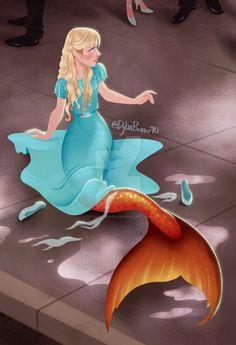 Splash - Behold the Mermaid by DylanBonner on DeviantArt H2o Mermaids, Fantasy Mermaids, Mermaids And Mermen, Mermaid Pose, Anime Mermaid, Mermaid Art, Art Vampire, Vampire Knight, Splash Movie