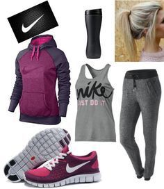 Workout clothes for women illustration description a super cute nike outfit Cute Nike Outfits, Cute Athletic Outfits, Cute Nike Shoes, Cute Nikes, Sporty Outfits, Athletic Wear, Gym Outfits, Cheap Shoes, Nike Workout Outfits