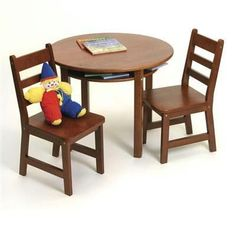 rnd table chair set cherry