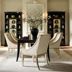 Classic Contemporary : Caracole : Home Furnishings : Designer Furniture Modern Home Furniture, Large Furniture, Dining Room Furniture, Furniture Design, Dining Chairs, Dining Table, Dining Rooms, Furniture Catalog, Online Furniture