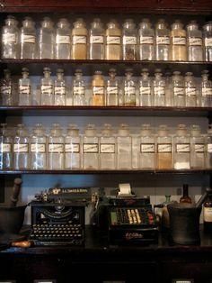 Old Pharmacy -- I love old bottles!