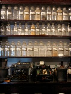 Old Pharmacy -- I love old bottles!