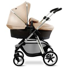 Sand Pioneer in Pram Mode with Lie Flat Carrycot
