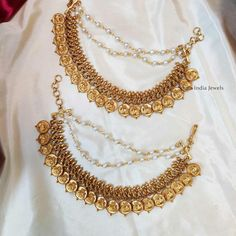 Temple Jewellery Designs By South India Jewels! Imitation Jewelry, South India, Temple Jewellery, Necklace Designs, Indian Jewelry, Antique Jewelry, Jewelry Collection, Fashion Jewelry, Jewelry Design