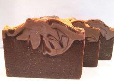 Warm Chocolate Cake Handmade Cold Process Soap by GlowBodyandSoul
