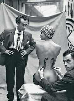 Mark Arbeit - Man Ray and his model, 1930