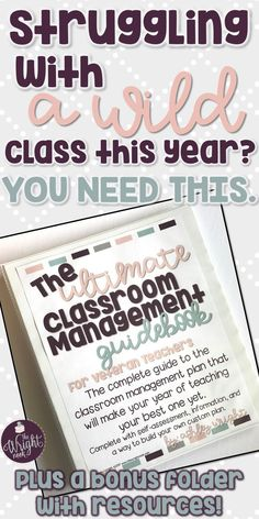 Are you a teacher that has had enough with the bad behavior and chaos? Or maybe you are a new teacher that is searching for exactly what do when it comes to classroom management? Wherever you are in your teaching career, this book is here to help you with your ENTIRE classroom management plan.