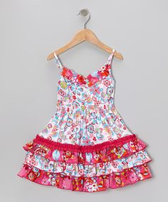 Take a look at this Pink Field of Flowers Abby Dress - Infant, Toddler & Girls by Sage & Lilly on today! Little Girl Dresses, Girls Dresses, Kids Frocks, Kids Outfits Girls, Sewing For Kids, Fashion Kids, Infant Toddler, Toddler Girls, Daisy Dress