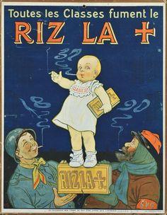Toutes les Classes fument le Riz La [Croix] : [carton publicitaire] / Ogé Auteur(s) Ogé, Eugène (1861-1936) [Illustrateur]  [145] Autre(s) auteur(s) Etablissements Vercasson (Paris) [Imprimeur]  [219] Editeur(s), Imprimeur(s) [S.l.] : [s.n.], [1917] (Paris) (imp. Vercasson)