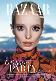 Maud Welzen photographed by Mark Pillai for Harper's Bazaar Germany (December 2014).