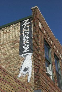 Exterior of Zandbroz in Downtown Fargo, ND.