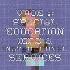 VDOE :: Special Education IEPs & Instructional Services