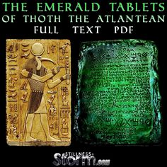 "The Emerald Tablets of Thoth are ancient relics enshrouded in mystery and intrigue. Free masonry, the ancient mysteries of old and the Hermetic philosophies all have an association with the tablets.  Thoth claims to be a highly evolved being, sent to Earth to impart universal wisdom to humanity. Nearly every culture on the planet has ancient teachings which seem to relate to this incredible work. Alchemy, which comes from the term Al Kemet, meaning the ""black land,"" was apparently i..."
