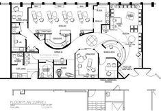 Dental Office Floor Plans, Orthodontic and Pediatric Medical Office Design, Office Interior Design, Office Designs, Hotel Floor Plan, Office Floor Plan, Hospital Floor Plan, Office Layout Plan, Urban Design Plan, Modern Floor Plans