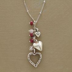 heart trio necklace #fashionbloggers #fallfashion #fashionista #jewelryinspo #jewelrymaking