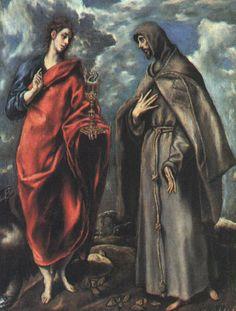 San Jua Evangelista y San Francisco 1608 Museo del Prado.