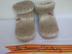 Chaussons en Laine beige pour le Canapé ou sous la Couette... : Chaussures par des-jardins-catalans