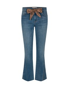 Soft stretchy jeans with removable bow Bow Jeans, Live Shop, Bell Bottom Jeans, Bows, Boutique, Denim, Super, Pants, Shopping