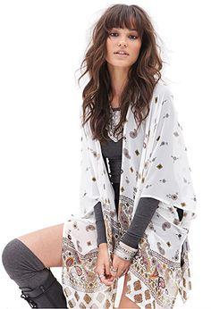 Paisley & Floral Print Kimono | FOREVER21 - 2000083595