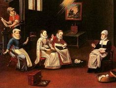 women as they sewed in the 16th century