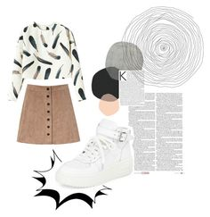 """""""Button Skirt + Hightops"""" by eversky2 on Polyvore"""