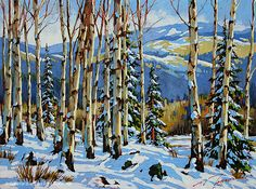 David Langevin, 'Brighter', x Awesome Art, Cool Art, Nature Sauvage, Art Gallery, Aspen Trees, Forest Art, Galerie D'art, Canadian Artists, Learn To Paint