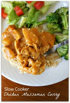 Slow Cooker Chicken Massaman Curry (recipe calls for Red Thai Curry, but I use Massaman Curry)