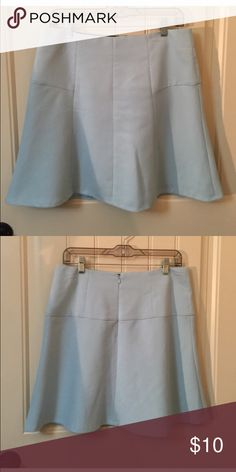 Baby blue Anne Taylor loft skirt Perfect condition. Zips and hooks closed. Has lining. Ann Taylor Skirts A-Line or Full