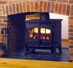 for the ranch Double sided wood burning stove for master bedroom to replace ugly double sided inset. Double Sided Stove, Double Sided Fireplace, Wood Burner, The Ranch, Home Deco, Future House, Natural Wood, Living Spaces, Master Bedroom