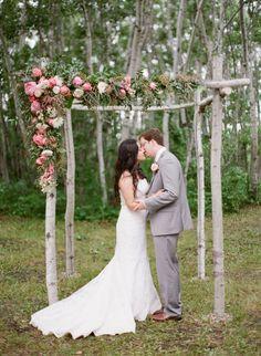 Photo by Adrian...beautiful!   Beautiful DIY chuppah // adrianmichaelphoto.com