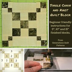 Single Chain and Knot quilt block tutorial
