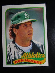 1989 Topps Ron Hassey Oakland Athletics A's Wrong Back Error Baseball Card #Athletics #topps #OaklandAthletics