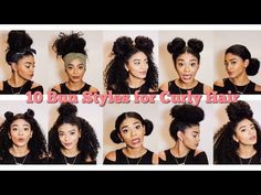 Natural Hair | 10 Bun Styles for Curly Hair [Video] - http://community.blackhairinformation.com/video-gallery/natural-hair-videos/natural-hair-10-bun-styles-curly-hair-video-2/