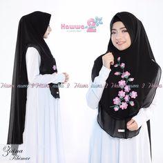 Khimar Zaina by Hawwa Aiwa Kerudung Bordir 2 Layer Bahan Ceruty Babydoll 6 Cara Hijab, Moslem Fashion, Hijab Style Tutorial, Hijab Fashion, Muslim, Baby Dolls, Layers, Couture, Kids