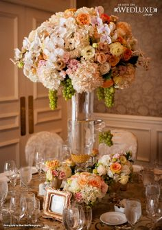 WedLuxe: Beautiful Vancouver #wedding with floral and decor by FLOWERZ
