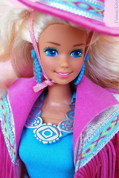 Barbie #Western #1989 (en verdad la tuvimos en 1990, gracias a la Tia Patri) cc @naditasosa