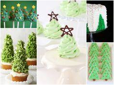 christmas tree cupcakes desserts