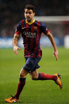 Cesc Fabregas of Barcelona in action during the UEFA Champions League Group H match between Ajax Amsterdam and FC Barcelona at Amsterdam Arena on November 26, 2013 in Amsterdam, Netherlands.