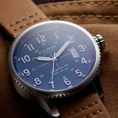www.Filson.com | We're proud to introduce the Filson Watch Collection, built by hand in the USA.