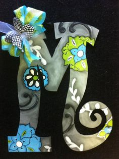 wooden Hand painted Letters by michelleschulten on Etsy