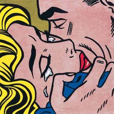 Roy Lichtenstein The Kiss V painting is shipped worldwide,including stretched canvas and framed art.This Roy Lichtenstein The Kiss V painting is available at custom size. Roy Lichtenstein Pop Art, Arte Pop, Comic Kunst, Comic Art, Comic Books, Cuadros Pop Art, The Kiss, Bd Art, Illustrator