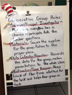 Science cooperative group roles