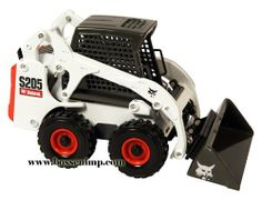 Bobcat Skid Loader S-205 1:25 Scale by CLOVER. $34.99. 1/25 Scale. Age Grade 8+ Diecast   The Bobcat S-200 skid steer loader has more horsepower for lifting, digging, and any other job you will have to do  Along with powr, the vertical lift path S-205 skid steer loader delivers excellent reach, better flotation with larger tires, and great all-around performance  The S-205 is a power lifting and digging machine that generally excels in numerous applications